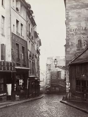Rue De La Montagne-Sainte-Geneviève Near the Intersection of Rue Laplace, 1865-69 by Charles Marville