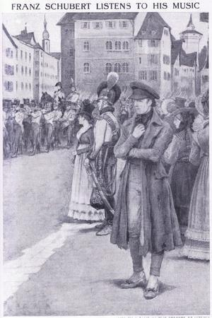 Franz Schubert Listens to His Music in the Streets of Vienna