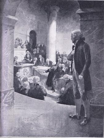 Jefferson Listening to the 'Treason Speech'