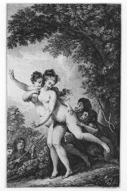 The Cries Proceeded from Two Young Women Who Were Tripping Disrobed Among the Mead by Charles Monnet