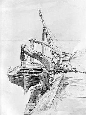 A Study in Pencil and Water Colour, 1858 by Charles Napier Hemy