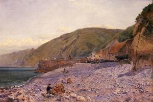 Among the Shingle at Clovelly, 1864 by Charles Napier Hemy