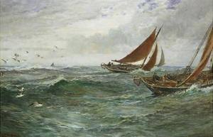In the Track of the Trawlers by Charles Napier Hemy