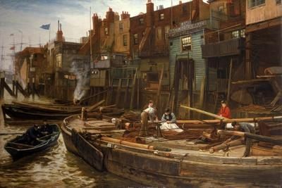 London River - the Limehouse Barge-Builders, 1877