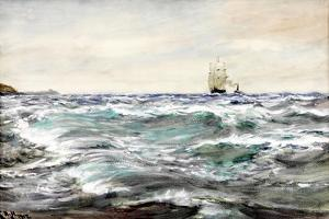 Rough Water on the Bar by Charles Napier Hemy