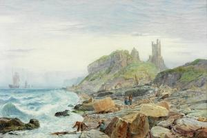 Ruin of a Northumbrian Keep, 1864 by Charles Napier Hemy