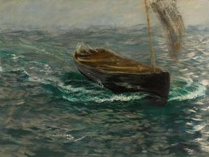 Study of a Sailing Dinghy by Charles Napier Hemy