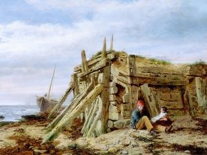Under the Breakwater, C.1863 by Charles Napier Hemy