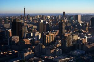Aerial View of Downtown Johannesburg by Charles O'Rear