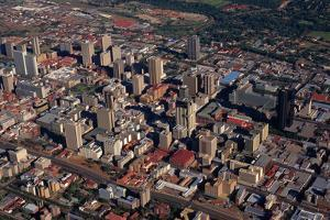 Aerial View of Downtown Pretoria by Charles O'Rear
