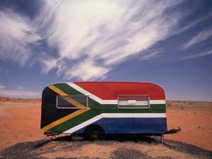 Food Trailer Painted with South African Flag Motif by Charles O'Rear