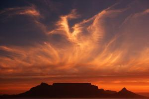 Sunset over Table Mountain by Charles O'Rear