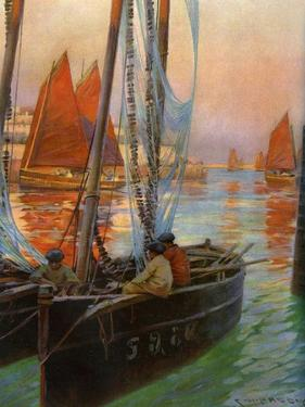 Brest Fishing Boats, 1907 by Charles Padday