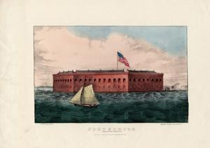 Fort Sumter: Charleston Harbor, S.C., Pub. by Currier and Ives, C.1861 by Charles Parsons