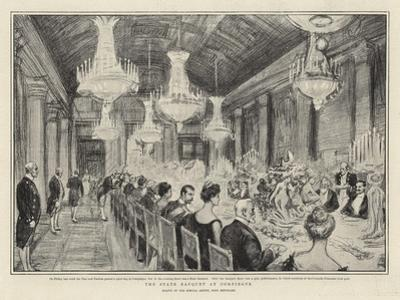 The State Banquet at Compiegne by Charles Paul Renouard