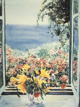 Yellow Flowers In Window by Charles Penny