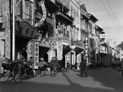 Singapore Street Scene by Charles Phelps Cushing