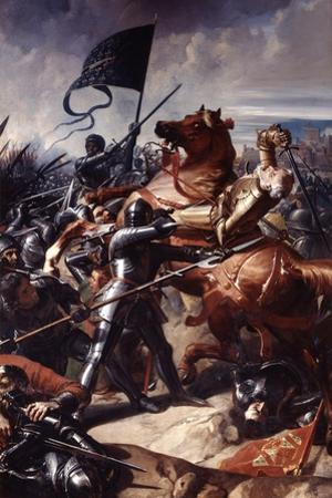 Battle of Castillon, 1453 by Charles Philippe Auguste Lariviere