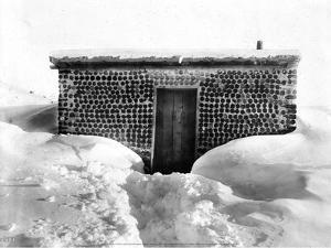A Miner's Cabin Built from Bottles, Goldfield, Nevada, c 1900-1930 by Charles Pierce