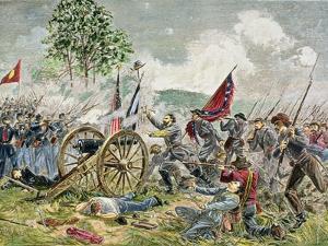 Pickett's Charge, Battle of Gettysburg in 1863 by Charles Prosper Sainton