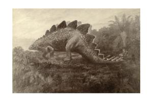 A Painting of a Dinosaur by Charles R. Knight