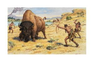 Extinct Species of Bison Were Hunted by Early Americans by Charles R. Knight