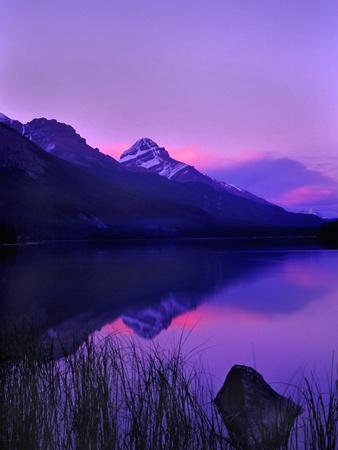 Canada, Alberta, Banff. Sunset along Icefields Parkway