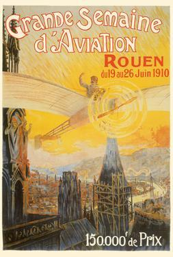 Great Aviation Week of 1910 - Rouen, France by Charles Rambert