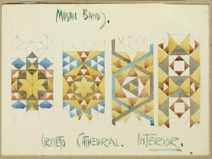 A Sheet of Studies of Mosaic Bands, Orvieto Cathedral, 1891 by Charles Rennie Mackintosh