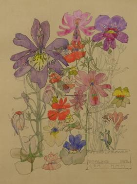 Butterfly Flower, Bowling, 1912 by Charles Rennie Mackintosh