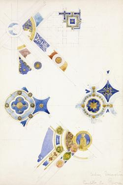 Certosa Di Pavia, Studies of the Ceiling Decoration, 1891 by Charles Rennie Mackintosh