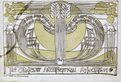 Conversazione Programme, Designed for the Glasgow Architectural Association, 1894 by Charles Rennie Mackintosh
