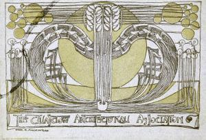 Conversazione Programme, Designed for the Glasgow Architectural Association, 1894 by Charles Rennie Mackintosh
