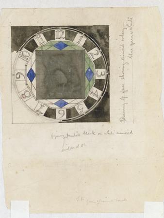 Design for a Clock Face, for W.J. Bassett-Lowke, 1917 by Charles Rennie Mackintosh