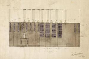Design for a Wall, Table and Doors, for A.S. Ball, Berlin, 1905 by Charles Rennie Mackintosh