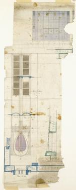 Design for a Wardrobe, Shown in Elevation, with Half-Full Size Details of Decorative Panel, 1904 by Charles Rennie Mackintosh