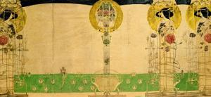 Design for Mural Decoration of the First Floor Room of Miss Cranston's Buchanan Street Tearooms by Charles Rennie Mackintosh