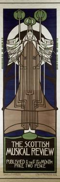 Poster Advertising the Scottish Musical Review, Published by Banks and Co., Edinburgh and… by Charles Rennie Mackintosh