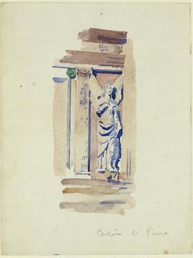 Study of an Angel Statue, Certosa Di Pavia, 1891 by Charles Rennie Mackintosh