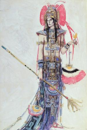 Costume Design for 'Montezuma', from the Operetta by Cecil Lewis on Paper)