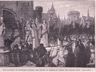The Countess De Montford Inciting the People of Rennes to Resist the French King Ad 1341