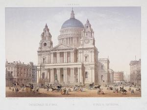 St Paul's Cathedral, London, C1855 by Charles Riviere
