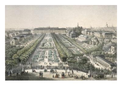 View of the Jardin Des Plantes, Paris