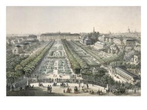 View of the Jardin Des Plantes, Paris by Charles Riviere