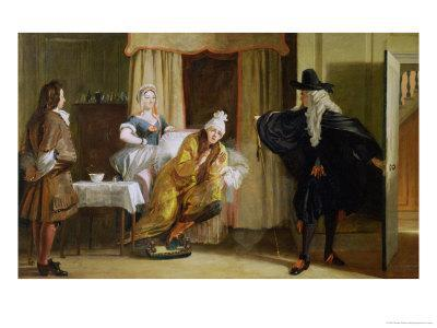 """Scene from """"Le Malade Imaginaire"""" by Moliere"""