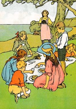 'A Christmas Dinner in New Zealand', 1912 by Charles Robinson