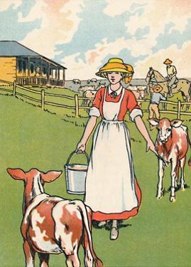 'An Australian Dairy Farm', 1912 by Charles Robinson