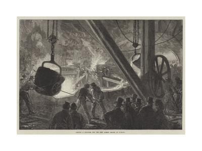 Casting a Cylinder for the New Albert Bridge at Chelsea