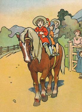 'Going to School in New Zealand', 1912 by Charles Robinson