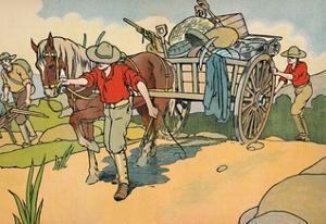 'Off to the Gold-Fields', 1912 by Charles Robinson